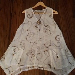 Tops - SHEER CASUAL COVERUP